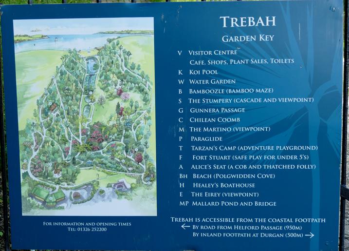 Trebah Gardens Plan