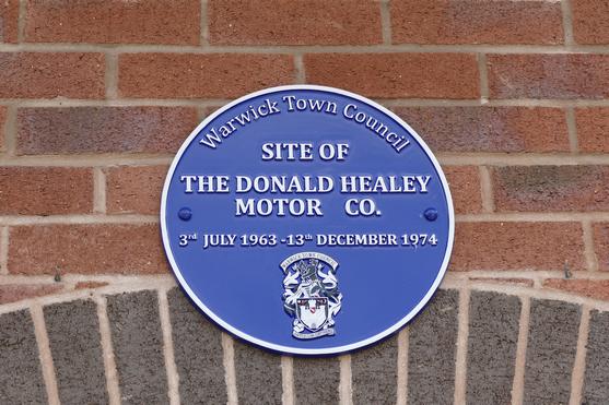Donald Healey Motor Company 'Blue Plaque'