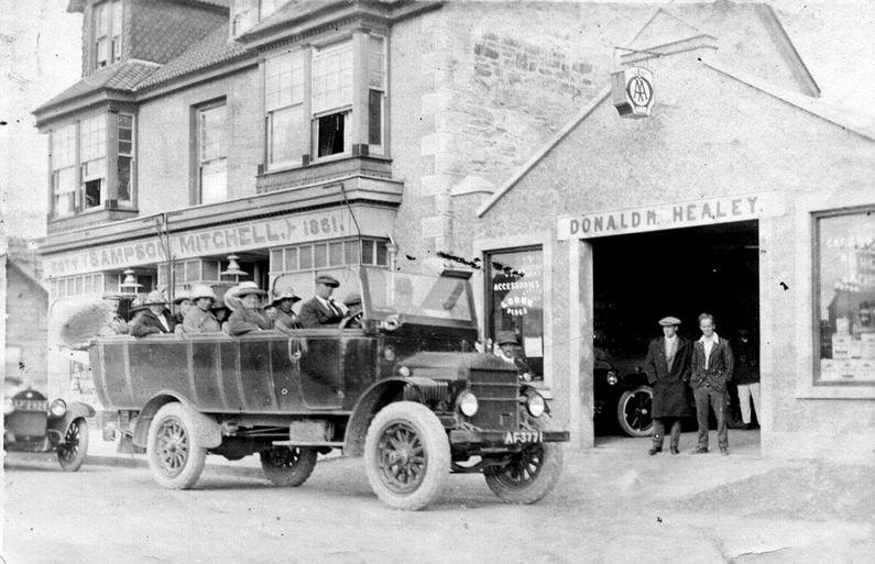 The Red House (Sampson Mitchell store) With Donald Healey's Garage next door