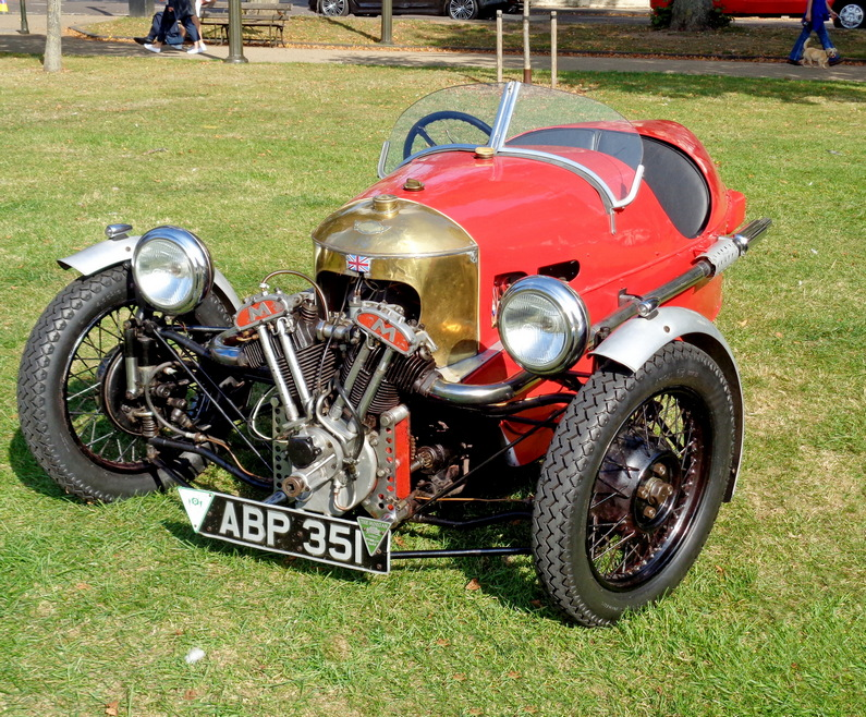 Early Morgan Three Wheeler with Matchless motorcycle engine