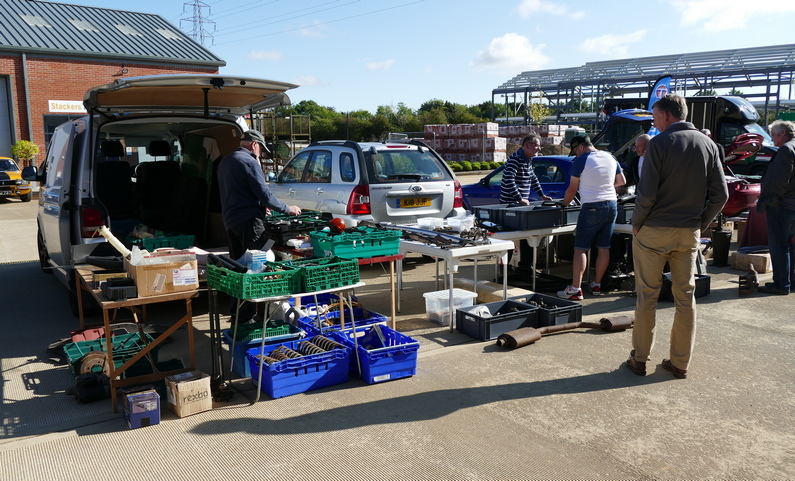 Spares stall at Rootes Archive Trust Centre 10/10/2021